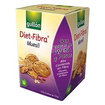 Gullón Galleta muesli Diet fibra Paquete de 450 g