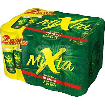 Mahou cerveza Mixta sin alcohol con gaseosa sabor limón pack 10 lata 33 cl