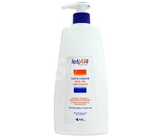 LETI AT4 Leche corporal, emoliente y protectora, fácil absorción 250 Mililitros