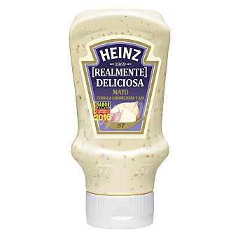 Heinz Mayonesa con cebolla caramelizada y ajo Frasco 400 ml