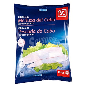 DIA Filetes de merluza del cabo sin piel bolsa 600 gr Bolsa 600 gr