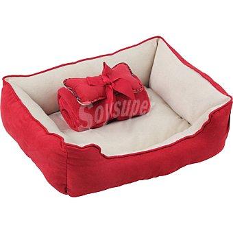 Pawise Cuna para mascotas color roja 3 en 1 tamaño 56x43x17,8 cm 1 unidad