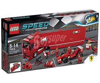 LEGO Juego de construcciones con 884 piezas F14 T y Camión de la Escudería Ferrari, Speed Champions 75913 1 unidad