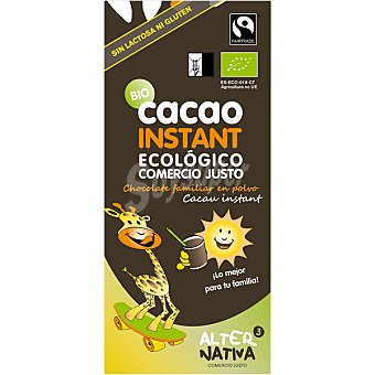 ALTERNATIVA 3 Cacao instantaneo ecologico sin lactosa y sin gluten Estuche 275 g