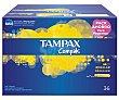 Tampón regular, para una maxi protección discreta Compak 36 uds Tampax