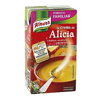 Knorr Crema de Alicia con calabaza, zanahorias y guisantes Envase 1 l