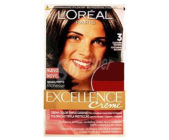 Excellence L'Oréal Paris Tinte de color castaño oscuro nº 3 Pack de 2 unidades