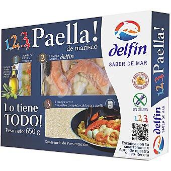 DELFIN preparado para paella de marisco estuche 650 g neto escurrido