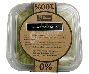 CHEF MAESTRO Tarrina de guacamole fresco, sin conservantes ni tratamientos 220 g