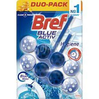 Bref WC Limpiador wc poder activo azul Pack 2 x 50 g
