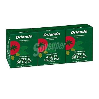 Orlando Tomate frito con aceite de oliva virgen extra Pack 3 briks x 21 cl