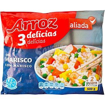 Aliada Arroz tres delicias con marisco 2 raciones Bolsa 500 g