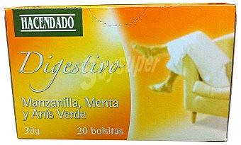 Hacendado Infusión mezcla manzanilla/menta/anís verde (digestivo) 20 bolsitas - 30 g
