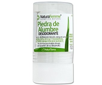 NATURAFemme Desodorante Piedra de Alumbre, no contiene alcohol 120 Gramos