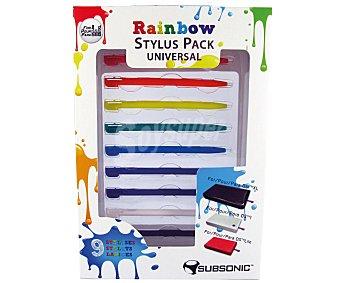 SUBSONIC Pack de 8 Lapices Stiylus de Diferentes Colores para Consola Nintendo DSi 1 Unidad