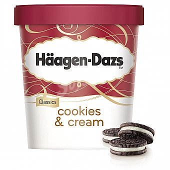 Häagen-Dazs Cookies & Cream helado de vainilla con trocitos de galletas de chocolate Tarrina 500 ml