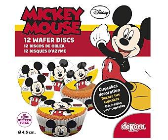 Dekora Mini discos de oblea decorativos mickey mouse 12 Unidades