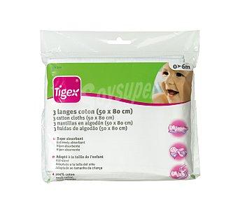 TIGEX Gasas Algodón 3 unidades