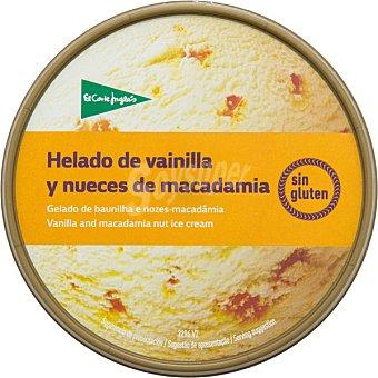 El Corte Inglés helado de vainilla y nueces de macadamia sin gluten  tarrina 500 ml