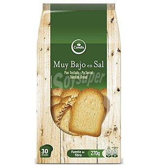 Condis Pan tostado bajo en sal 270 G