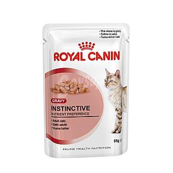 Royal Canin Comida húmeda para gatos adultos Instinctive In Gravy Bolsa 85 g