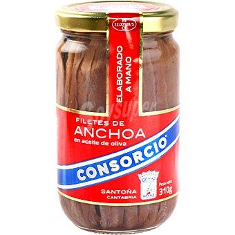 Consorcio Filetes de anchoa en aceite de oliva Frasco 185 g neto escurrido