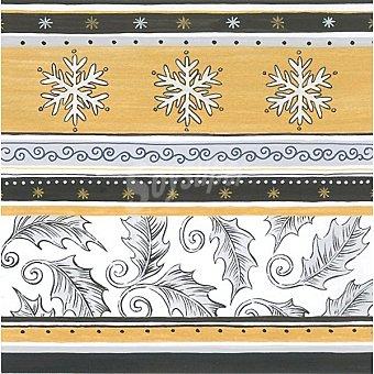 PAP STAR servilletas Snow Crystals 3 capas 33x33 paquete 20 unidades