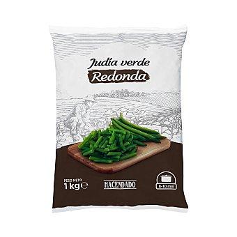 Hacendado Judía verde redonda troceada congelada Paquete 1 kg