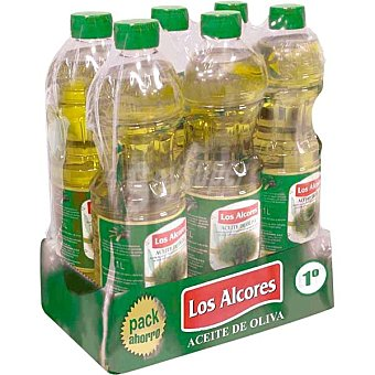 LOS ALCORES Aceite de oliva intenso 1º Pack Ahorro  6 botellas de 1 L