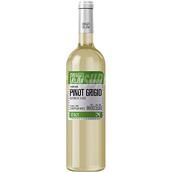 Wine and fly Vino blanco pinot grigio de Italia  Botella de 75 cl