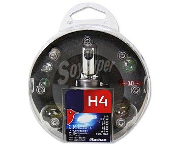 Auchan Estuche de bombillas H4-P21W-P21/5W-R5W-C5W-T4W- W5W y 1 Fusible 10A 1 unidad