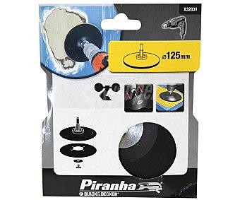 Piranha Plato soporte de discos de 125 milímetros para taladros PIRANHA.