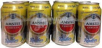 Amstel Cerveza radler con zumo natural de limon Lata pack 8 x 330 cc - 2640 cc