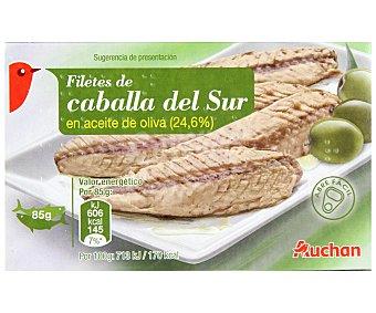 Auchan Filetes de Caballa del Sur en Aceite de Oliva Lata 85 Gramos