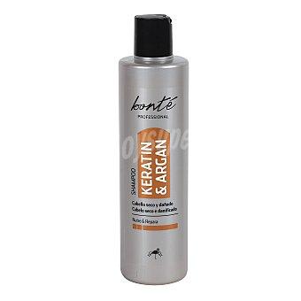 Bonté Champú keratina y aceite argán cabellos secos/dañados Botella 400 ml
