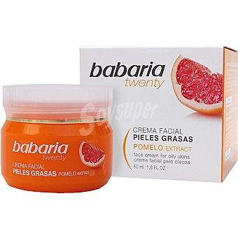 Babaria Twenty Crema facial hidratante 24h con extracto de Pomelo para pieles grasas Tarro 50 ml