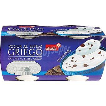 Aliada Yogur al estilo griego con straciatella Pack 4 unidades 125 g