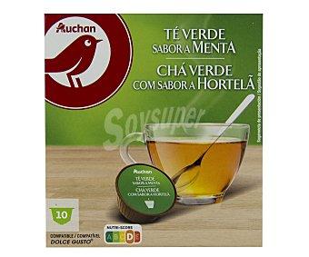 Producto Alcampo Té verde, sabor menta, en cápsulas 10 uds