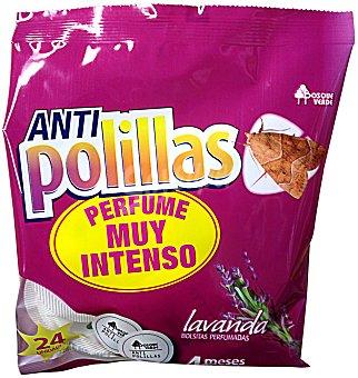 BOSQUE VERDE Antipolilla ropa bolsa lavanda PAQUETE 24 u