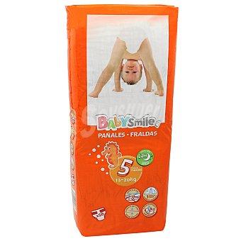 Baby Smile Pañales talla 5 de 13-20 kgs paquete 56 uds