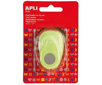 APLI Perforadora de papel con forma de círculo, de color verde y de 16 milímetros 1 unidad
