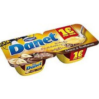 Danet Danone Danet de vainilla-praline Pack 2x115 g