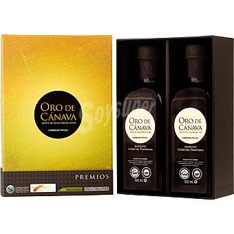 ORO DE CANAVA Selección Cosecha temprana aceite de oliva virgen extra variedad Picual estuche 2 botellas 500 ml Estuche 2 botellas 500 ml
