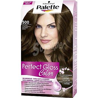 Palette Schwarzkopf Tinte Perfect Gloss Color nº 500 castaño claro moca con acondicionador de jojoba caja 1 unidad sin amoniaco Caja 1 unidad