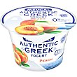 Yogur griego de melocotón 0% m.g Envase 150 g Mevgal
