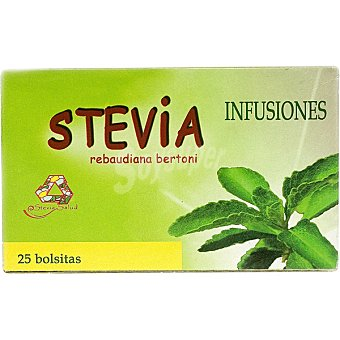 Stevia salud infusión de hojas de estevia 25 bolsitas envase 25 g