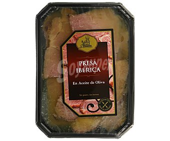 PRODUCTOS DE LA ABUELA Presa ibérica loncheada en aceite de oliva, lista para su consumo 100 g