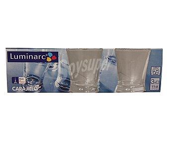 ARCOROC Pack de 3 vasos de chupito o carajillo, con capacidad de 11 centilitros y fabricados en vidrio 1 Unidad