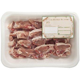 LA BOUTIQUE DEL LECHAL Chuletas de cordero lechal corte manual bandeja 650 g peso aproximado Bandeja 650 g