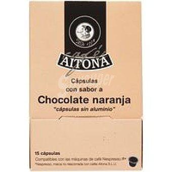 AITONA Café aroma cholate-naranja 15 monodosis